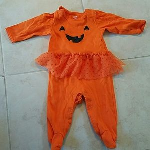 Pumpkin tutu onesie footie costume